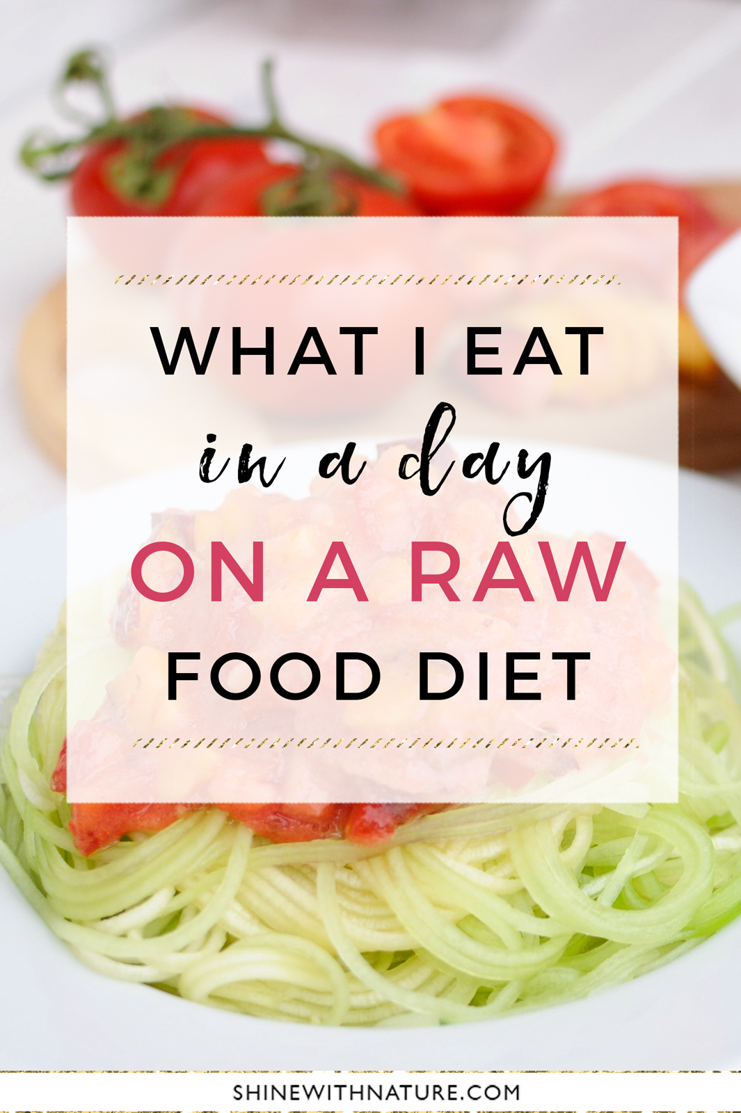 What I eat in a day on a raw vegan diet (low fat)