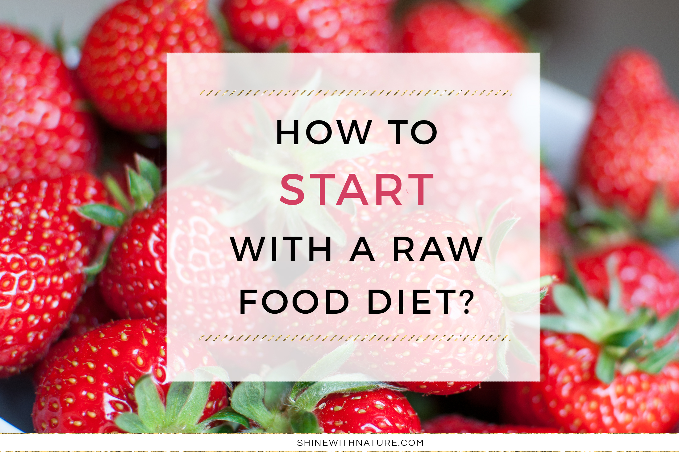 How to Start With a Raw Food Diet? - Shine with Nature