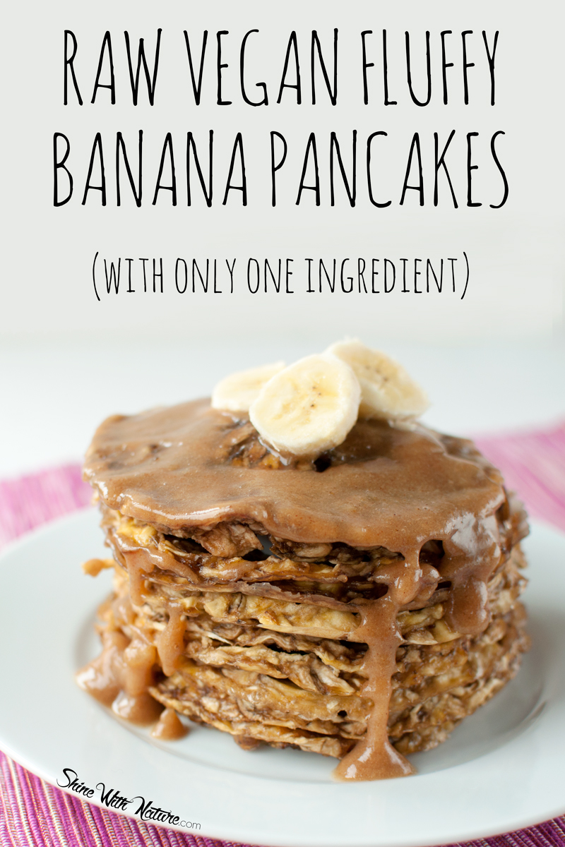 These raw vegan banana pancakes are soft, fluffy and so delicious. Just PERFECT! Plus they are low-fat and super healthy!