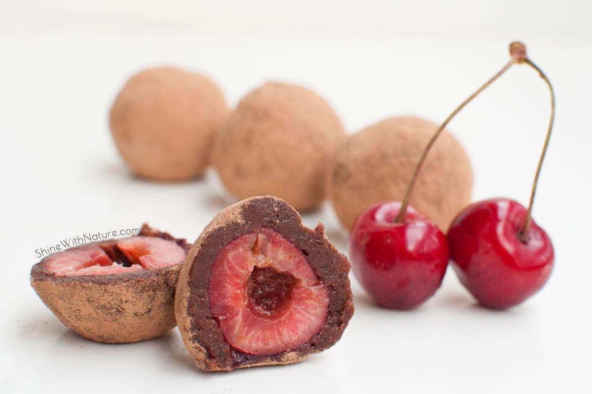 Raw Chocolate Cherry Truffles | ShineWithNature.com