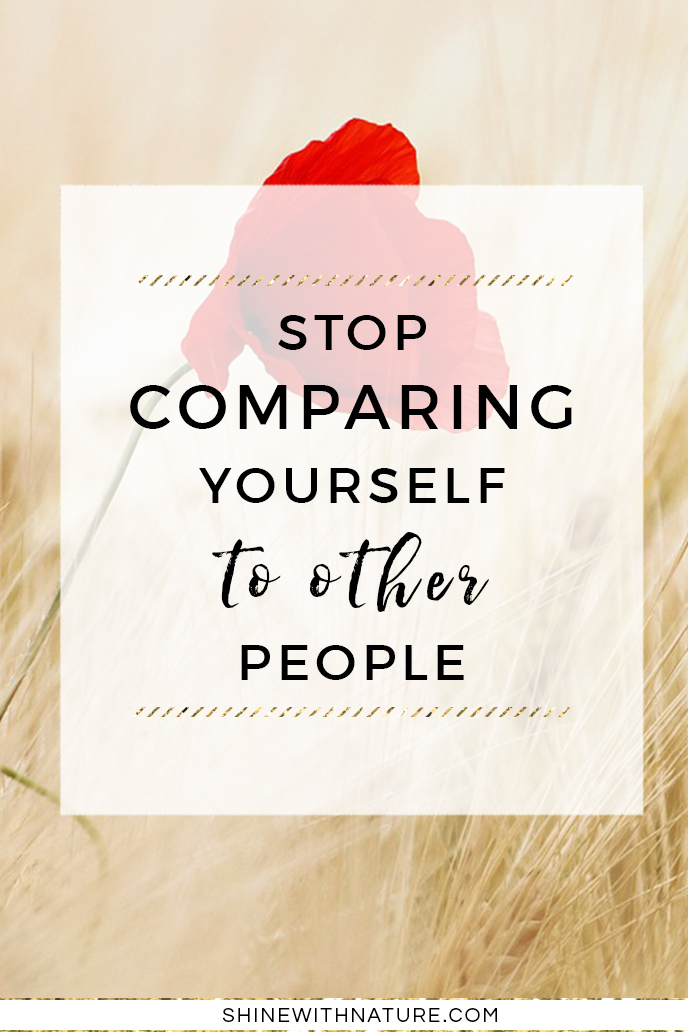 We will never be happy if we search the confirmation to be happy in other people. On the contrary, we will only feel worse when we will compare ourselves to others. The comparison will never bring you happiness. You just gotta work on your own problems first and then you won't even feel the need to compare yourself to anyone. You will love yourself no matter what.