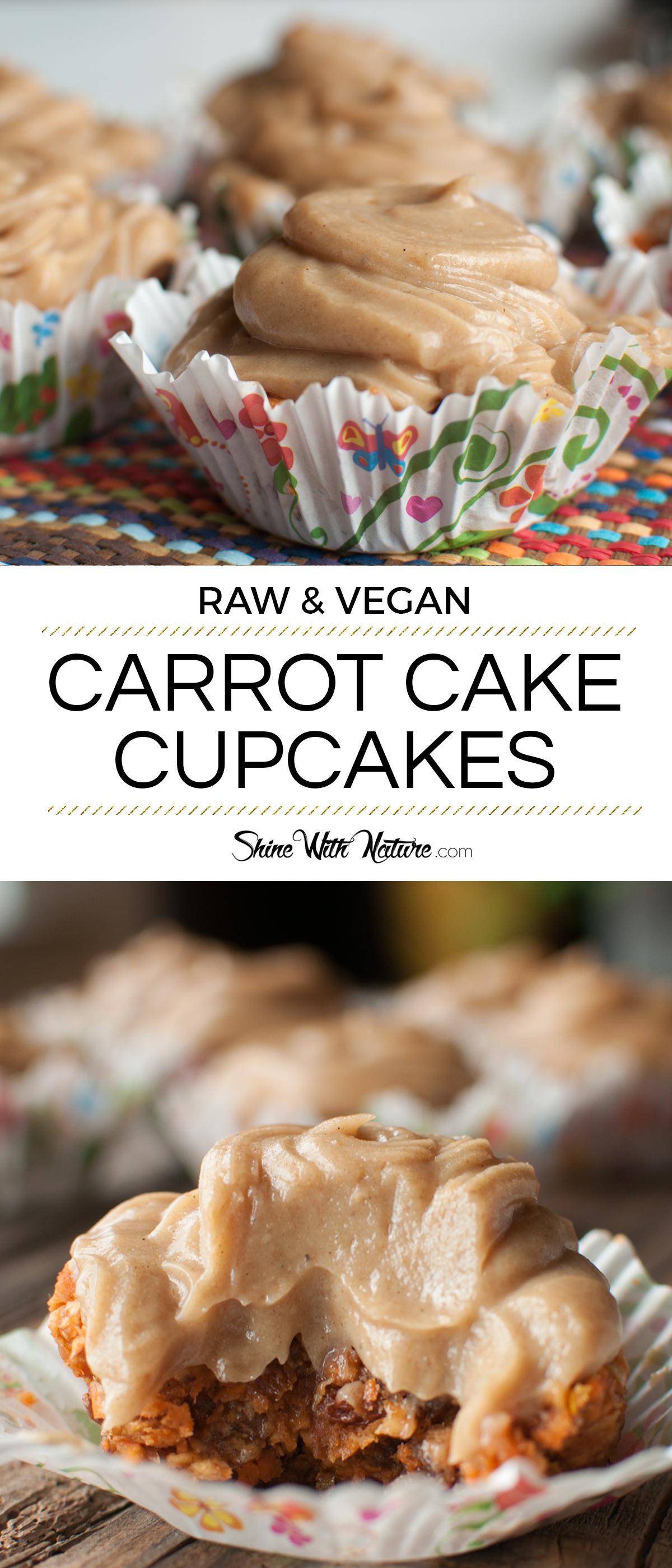 Raw Carrot Cake Cupcakes | ShineWithNature.com