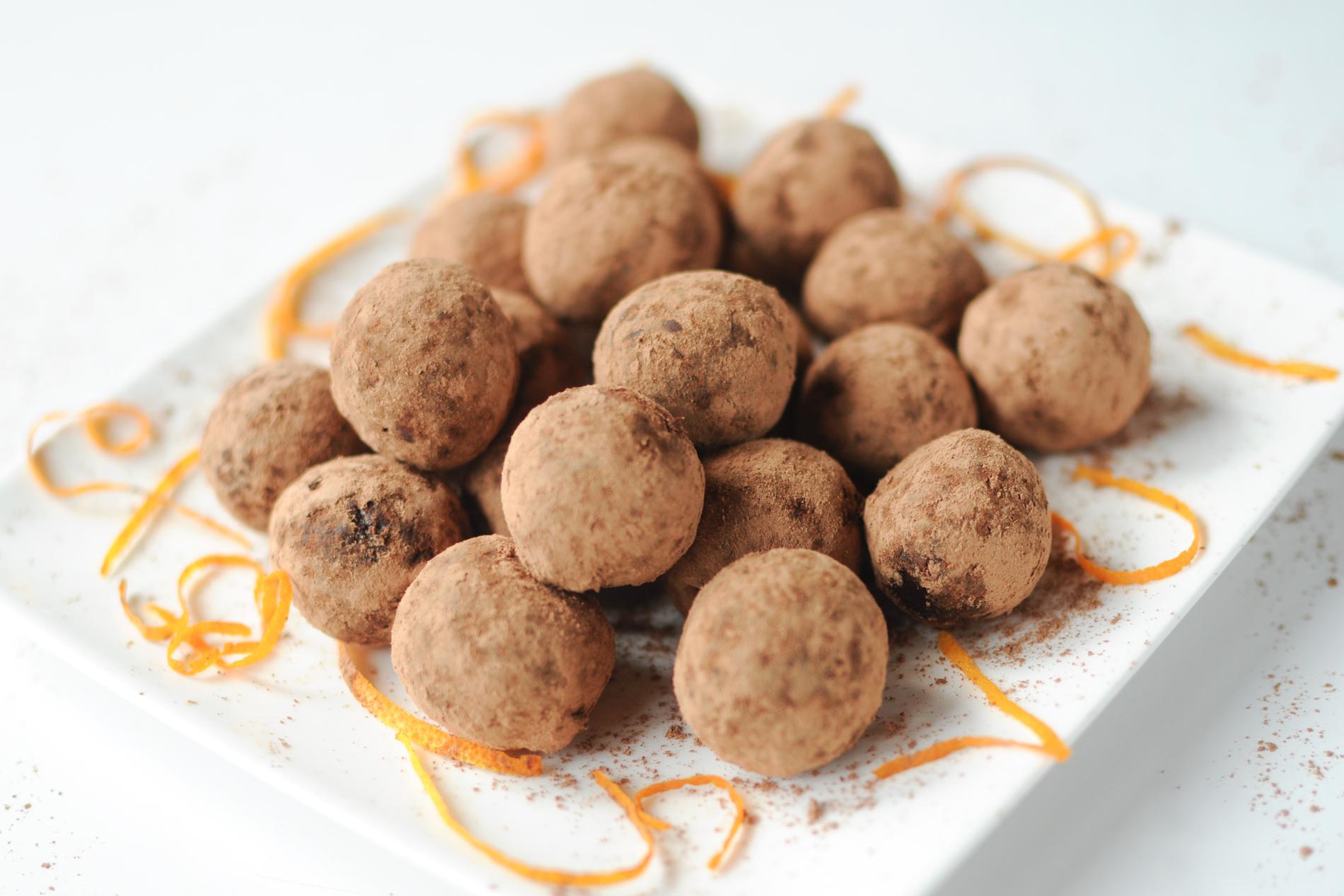 Raw Chocolate Orange Truffles - Shine with Nature