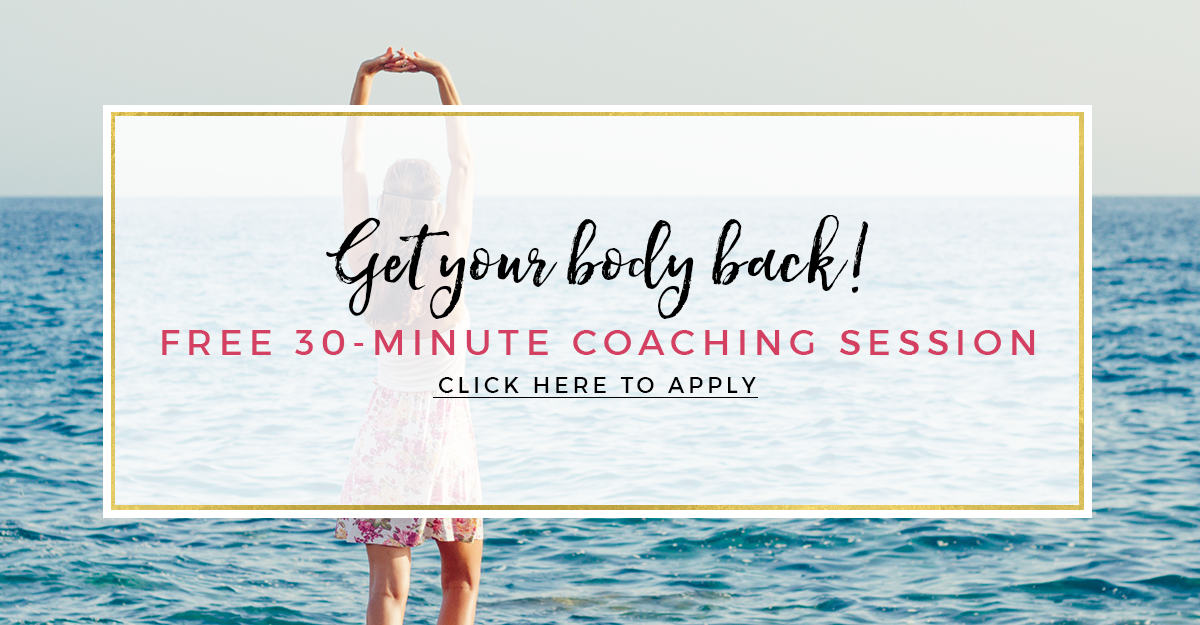 "Here is the opportunity to apply for a 30-minute free ""Get your body back"" session with Tiasha. Get the body that you are dreaming of. Without willpower. ;)"