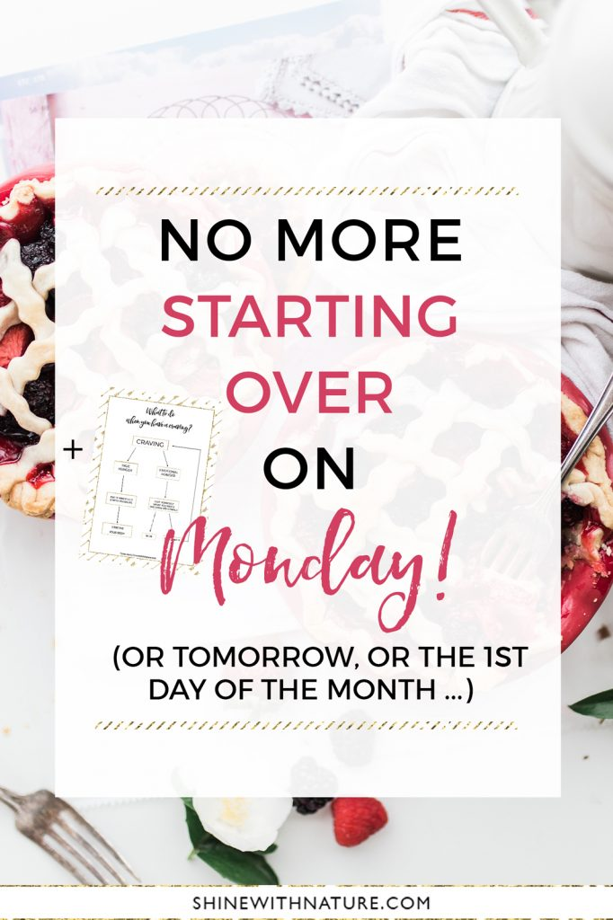 No more starting over on Monday! It's time to stop with this loophole and going in circles all the time. Learn how to stop dieting and enjoy food. Stop restricting, start living.