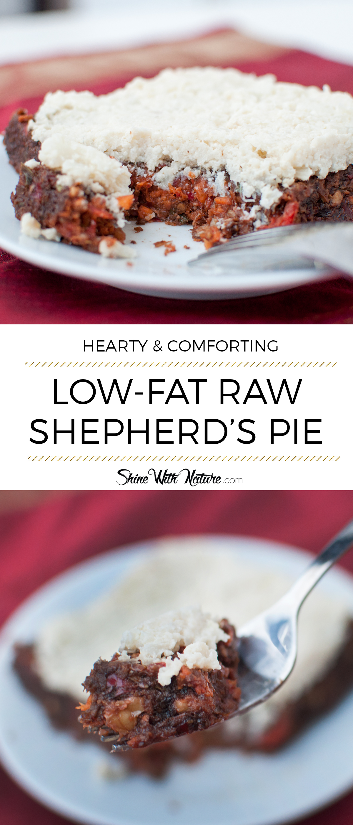 Raw shepherds pie shine with nature this hearty classic family supper has become one of my favorite raw vegan dishes forumfinder Images